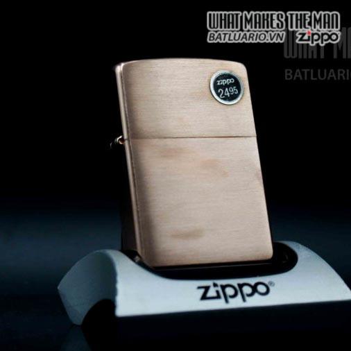 zippo 2006 solid copper đồng đỏ nguyên khối 1