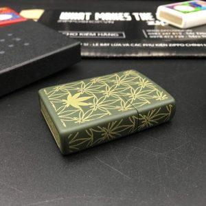 Zippo 29589 - Zippo Leaf Pattern Design Green Matte 9