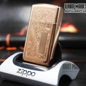 ZIPPO HIẾM – VENETIAN SLIM ROSE GOLD 1997 1
