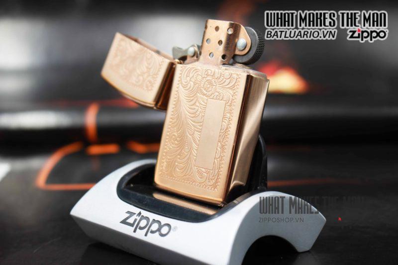 ZIPPO HIẾM – VENETIAN SLIM ROSE GOLD 1997 5