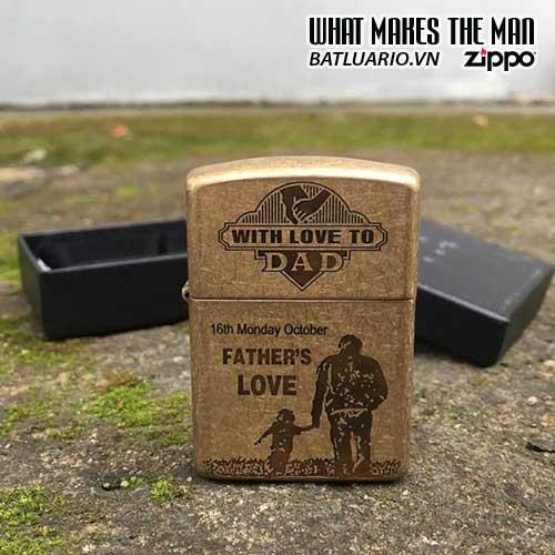 ZIPPO KHẮC FATHER'S LOVE 03 – ZIPPO 28496.FATHERLOVE 03