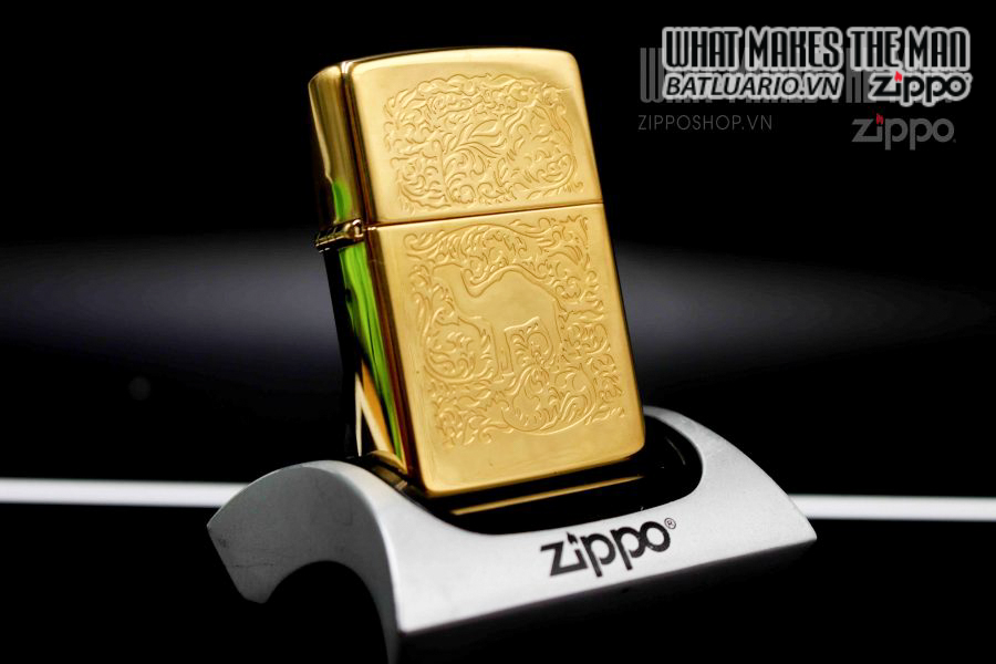 ZIPPO LA MÃ 1995 – CAMEL GOLD PLATE 22K 1