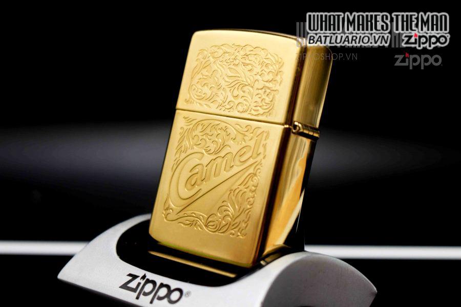 ZIPPO LA MÃ 1995 – CAMEL GOLD PLATE 22K 6