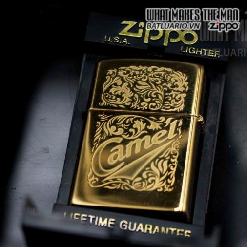 zippo la mã 1996 camel gold plate 22k 1
