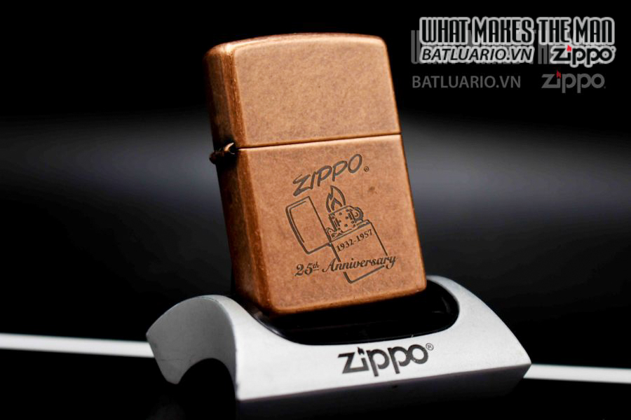 ZIPPO LA MÃ 1997 – ANTIQUE COPPER – 25TH ANNIVERSARY 6