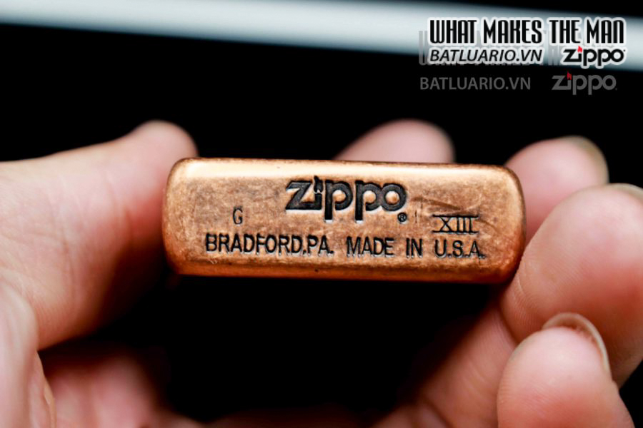 ZIPPO LA MÃ 1997 – ANTIQUE COPPER – 25TH ANNIVERSARY 1