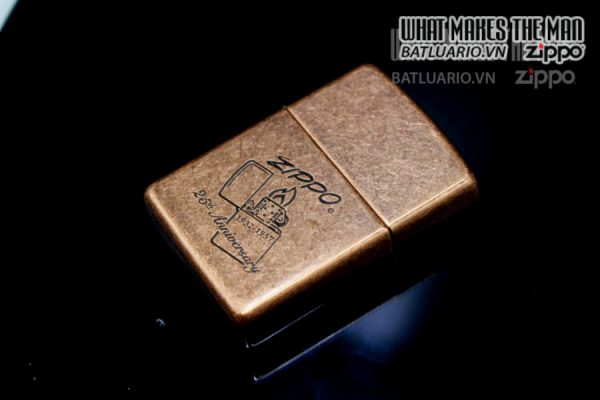 ZIPPO LA MÃ 1997 – ANTIQUE COPPER – 25TH ANNIVERSARY 5