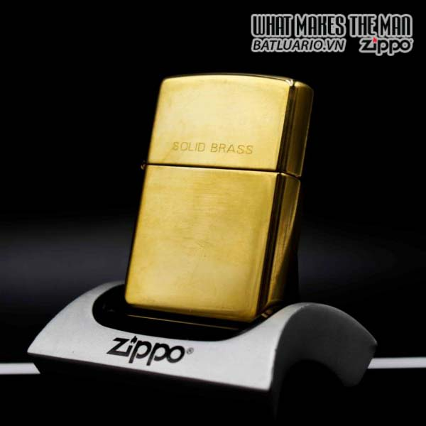 zippo la mã 1997 đồng nguyên khối trơn 2 mat