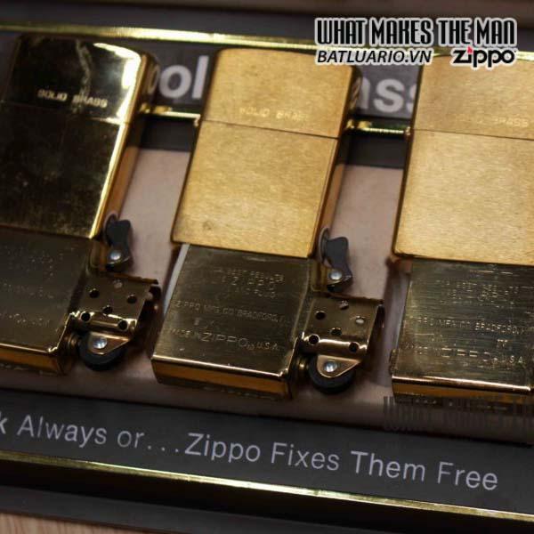 zippo set 1932-1988 đồng nguyên khối 3