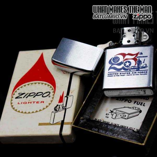 zippo xưa 1972 25th anniversary united states air force 6
