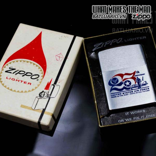 zippo xưa 1972 25th anniversary united states air force 8