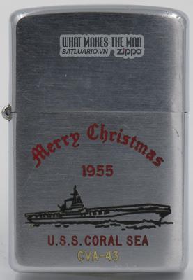 Zippo 1955 USS Coral Sea Christmas