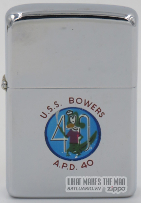 Zippo 1956 town & country USS Bowers