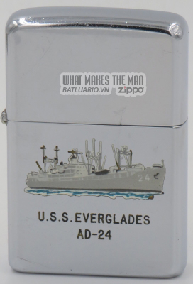 Zippo 1957 town & country USS Everglades