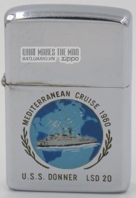 Zippo 1959 USS Donner Mediterranean Cruise