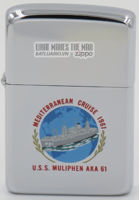 Zippo 1960 T&C USS Muliphen Mediterranean Cruise