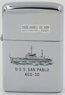 Zippo 1960 Town & Country USS San Pablo