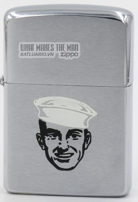 Zippo 1960 with sailor wearing a Dixie Cup hat