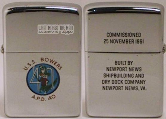 Zippo 1962 USS Enterprise 21 Nov 1961
