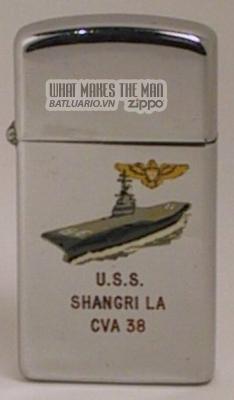 Zippo 1964 slim USS Shangri La