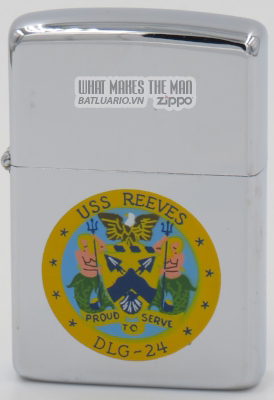 Zippo 1964 town & country USS Reeves
