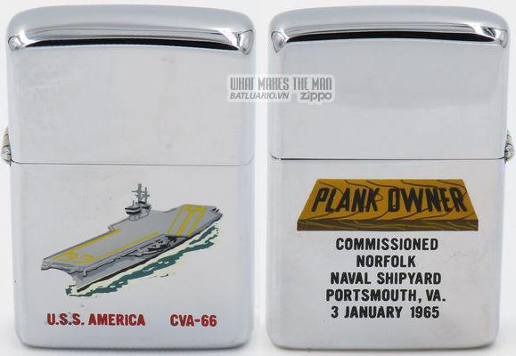 Zippo 1965 T&C USS America Plankowner