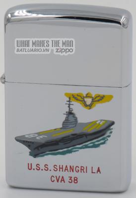 Zippo 1965 town & country USS Shangri La