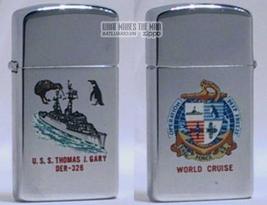 Zippo 1966 T&C slim USS Thomas J Gary