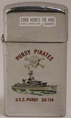 Zippo 1966 slim USS Purdy