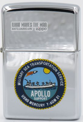 Zippo 1967 T&C Apollo Support USNS Mercury