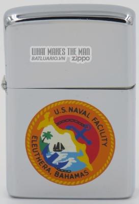 Zippo 1973 USS Naval Facility Eleuthera Bahamas