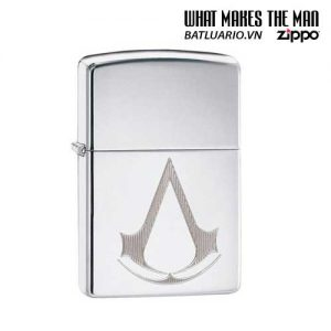 Zippo 29486 – Zippo Assassin's Creed® Engraved Crest High Polish Chrome