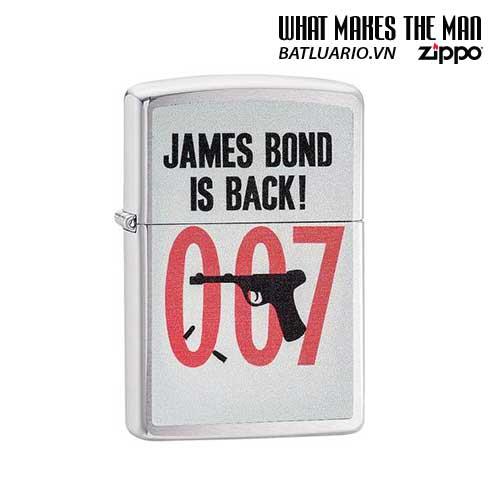 Zippo 29563 – Zippo 007 James Bond is Back Brushed Chrome
