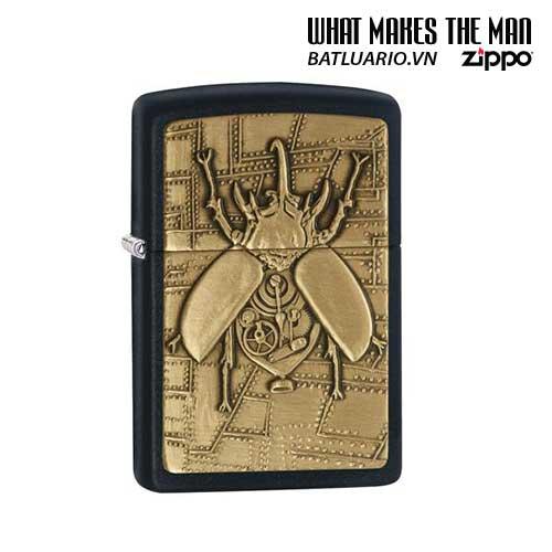 Zippo 29567 – Zippo Steampunk Beetle Emblem Black Matte