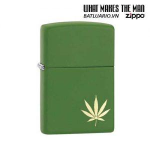 Zippo 29588 – Zippo Marijuana Leaf on the Side Green Matte
