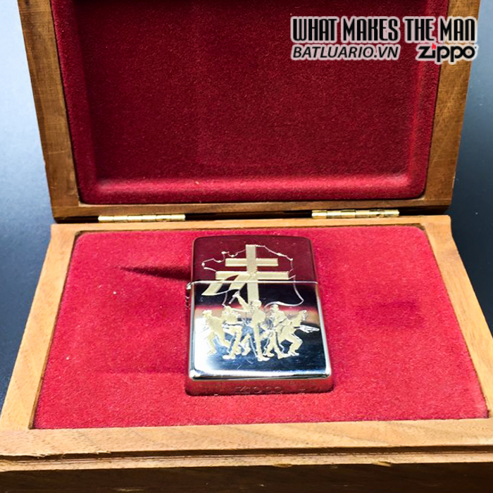 zippo 1945-1995 limited 34 2000 silver plate 1994 6
