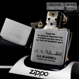 zippo 1972 kỉ niệm 40 năm thành lập zippo 1
