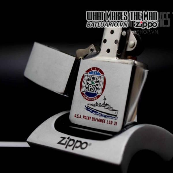 zippo 1980 uss point defiance lsd 31 12