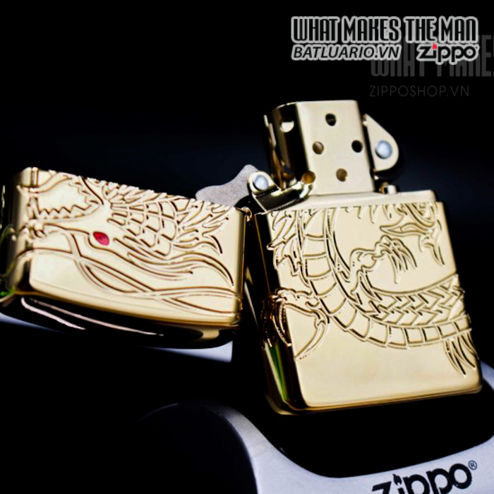 zippo 29265 zippo red eyed dragon 360 degree engraving gold plate 2 10