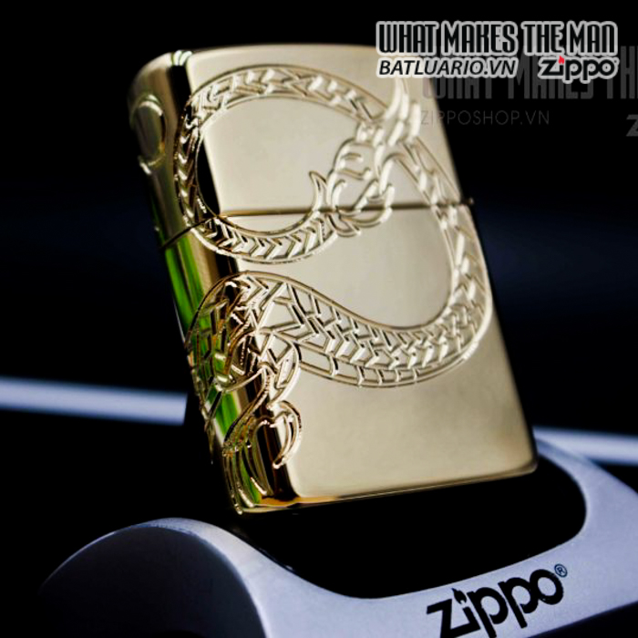 zippo 29265 zippo red eyed dragon 360 degree engraving gold plate 2 11