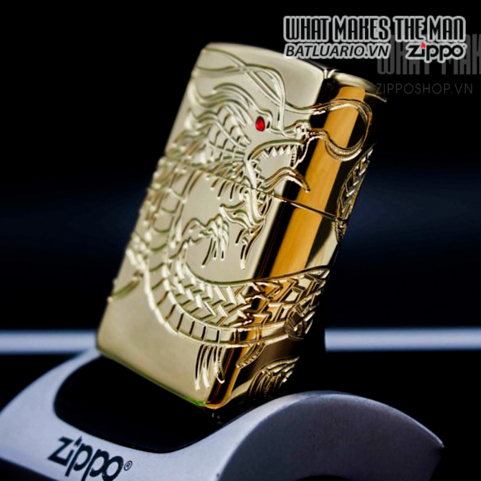 zippo 29265 zippo red eyed dragon 360 degree engraving gold plate 2 12