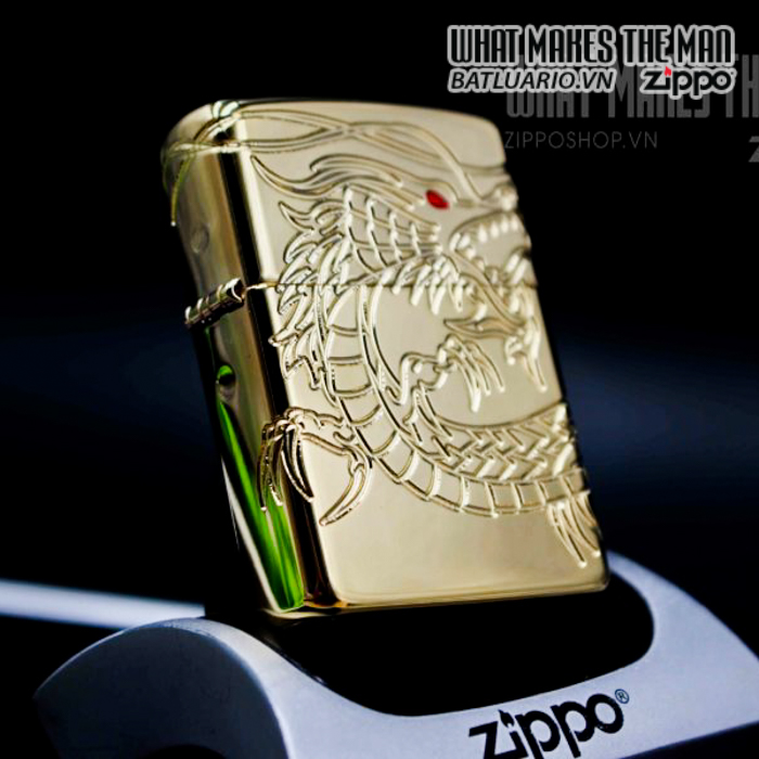 zippo 29265 zippo red eyed dragon 360 degree engraving gold plate 2 13