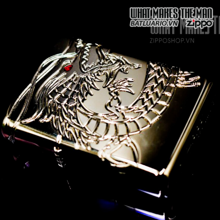 zippo 29265 zippo red eyed dragon 360 degree engraving gold plate 2 4