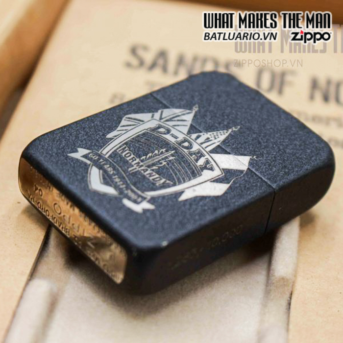 zippo d day 60th anniversary commemorative lighter sands of normandy 2 12