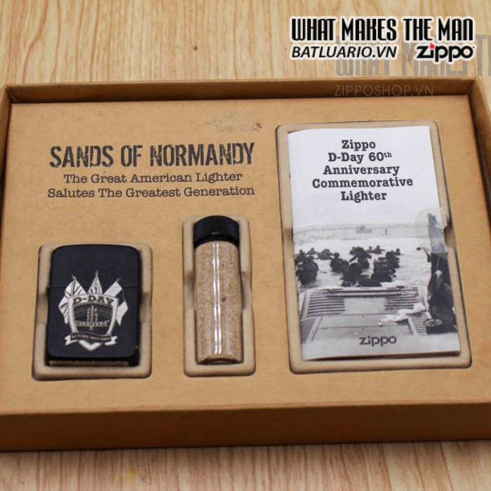 zippo d day 60th anniversary commemorative lighter sands of normandy 2 10