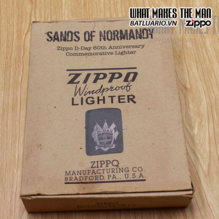 zippo d day 60th anniversary commemorative lighter sands of normandy 2 4