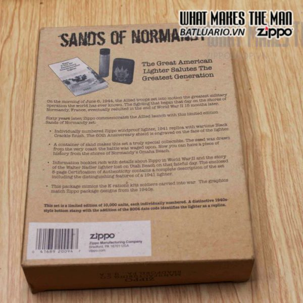 zippo d day 60th anniversary commemorative lighter sands of normandy 2 5