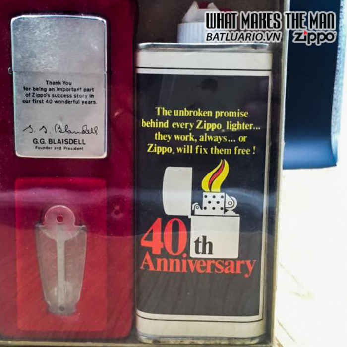 zippo gift 40th anniversary 1972 employee 2