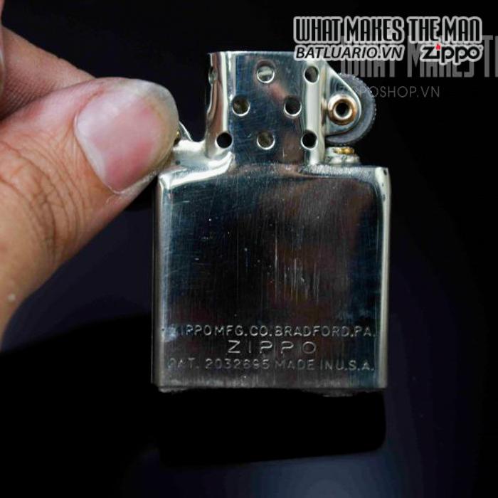 zippo hiếm zippo sterling bạc khối 1940s 2 4