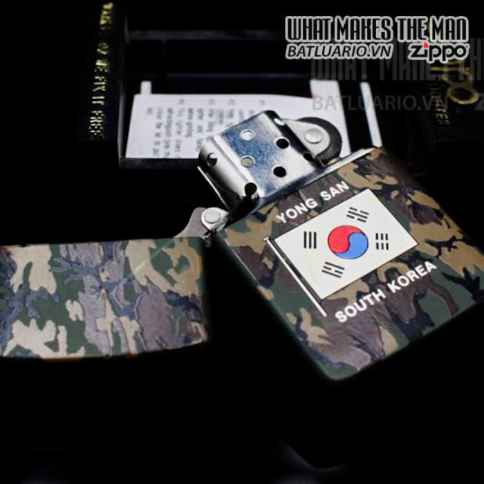 zippo la mã 1987 camo yong san south korea 4